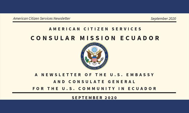 American Citizen Services Newsletter September 2020