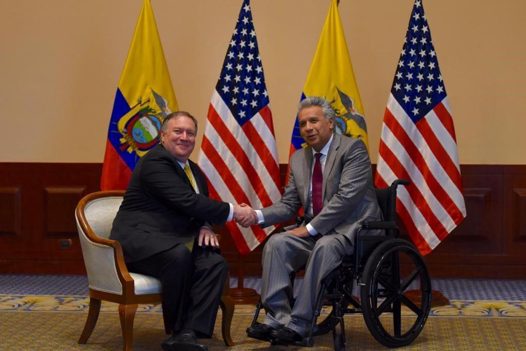 Secretary of State Michael R  Pompeo and Ecuadorian
