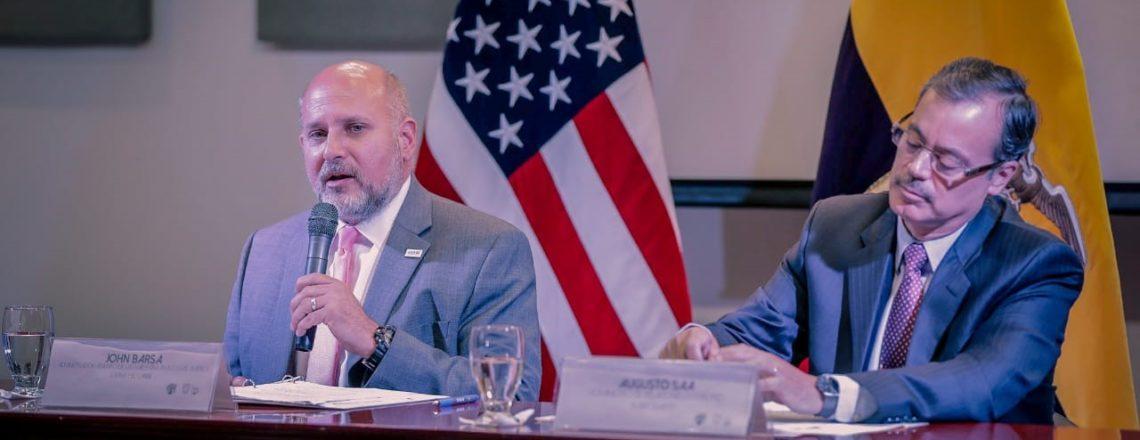 John Barsa, Administrador Adjunto de la USAID, visita Ecuador