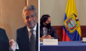 Presidente Moreno y el subsecretario Krach en Davos/Ministro Michelena y subsecretario Krach en Quito