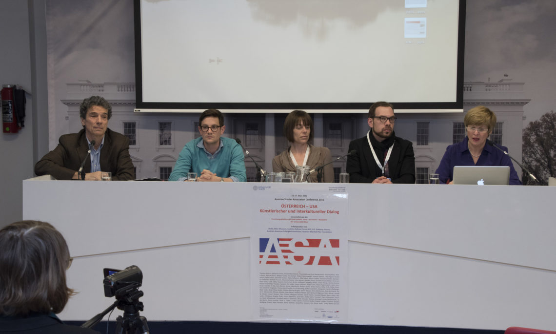 Michael Freund, Richard Lambert, Sarah Painitz, Stefan Maurer and Margarete Lamb-Faffelberger (from left to right)