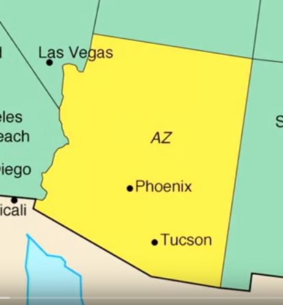 A Map Of Arizona State.Map Of Arizona 50 States Video Series U S Embassy In Austria