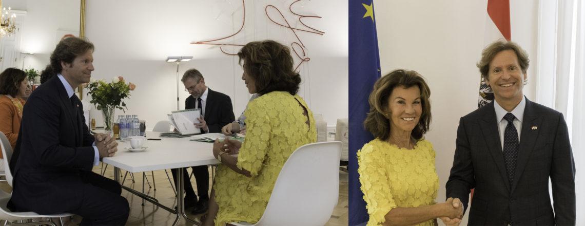 Ambassador Trevor Traina meets Chancellor Brigitte Bierlein