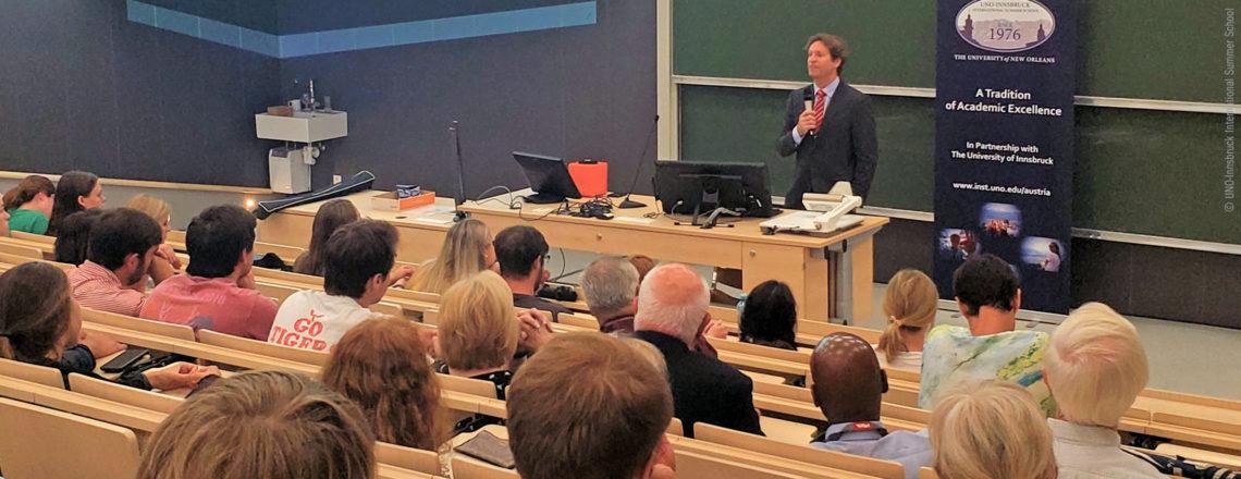 Ambassador Traina at UNO-Innsbruck International Summer School