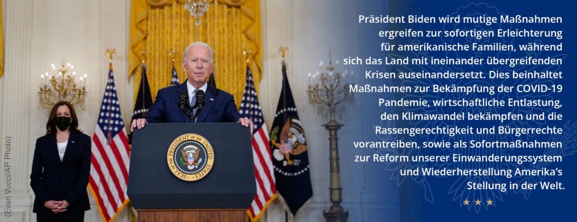 Die unmittelbaren Prioritäten der Biden-Harris-Administration