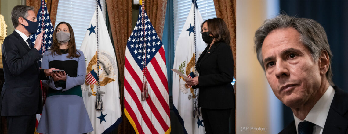 Begrüßung des 71. Außenministers Antony Blinken