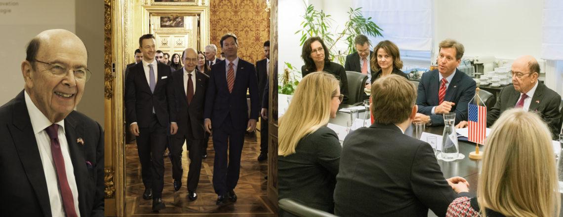 Secretary of Commerce Wilbur Ross in Vienna