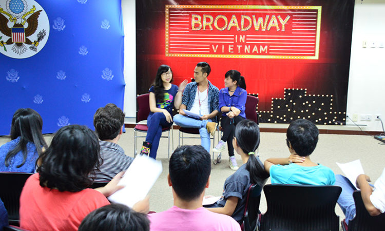 "Participants ""audition"" for 'Jersey Boys'"