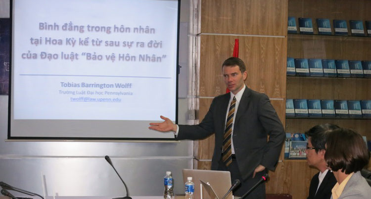 Professor Wolff discussed LGBT rights with educators at the HCMC University of Law