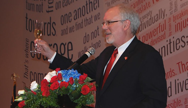 Ambassador David Shear toasts the friendship between the United States of America and the Socialist Republic of Vietnam