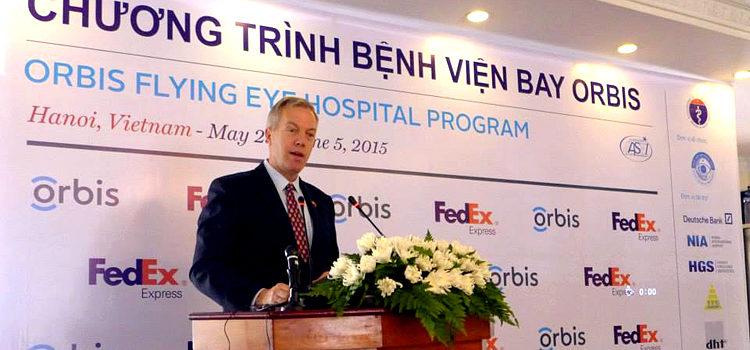 Đại sứ Ted Osius Phát biểu tại Lễ Khai mạc Chương trình Bệnh viện Bay Orbis