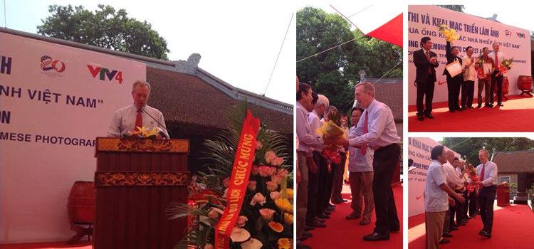 Đại sứ Ted Osius phát biểu tại Lễ trao giải cuộc thi và Khai mạc triển lãm ảnh Quan hệ Việt – Mỹ