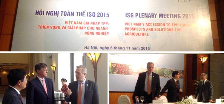 Đại Sứ Ted Osius tại Hội Nghị Toàn Thể Nhóm Hỗ Trợ Quốc Tế (ISG) năm 2015