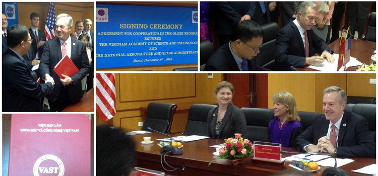 Đại sứ Hoa Kỳ Ted Osius tại Lễ Ký kết Thoả thuận Chương trình GLOBE