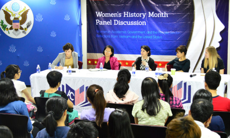 Photo of a panel discussion