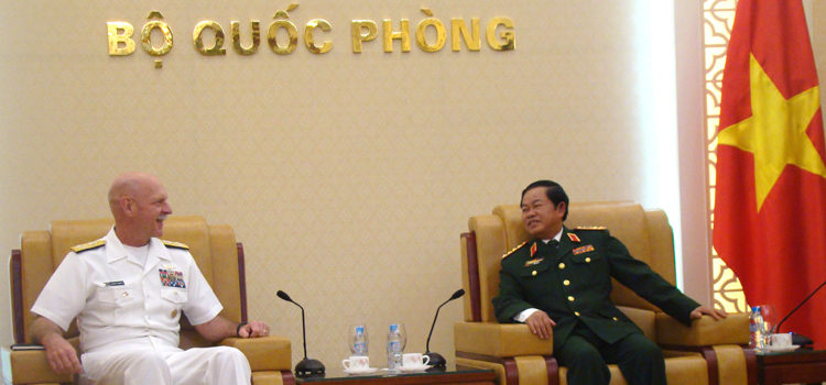 Meeting Between Admiral Scott Swift, Commander, US Pacific Fleet and GEN Do Ba Ty, Chief of General Staff