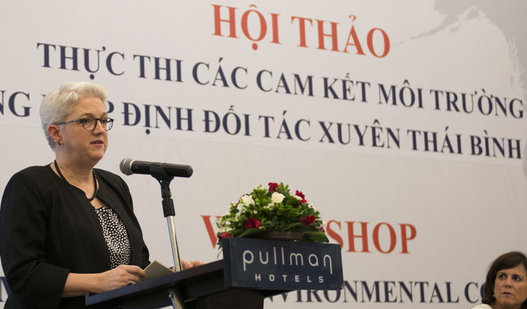 "DCM Susan Sutton at the Workshop ""Implementing the Environmental Commitments of the Trans Pacific Partnership Agreement"""