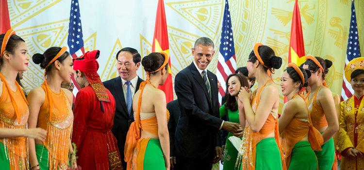 Phát biểu của Tổng thống Obama và Chủ tịch nước Trần Đại Quang tại Tiệc Chiêu đãi Nhà nước