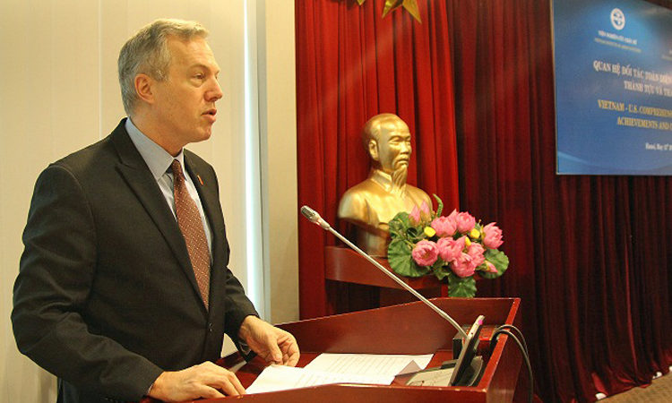 Amb. Osius Gives Remarks on Building Trust in the U.S.-Vietnam Relationship at Vietnam Academy of Social Sciences.