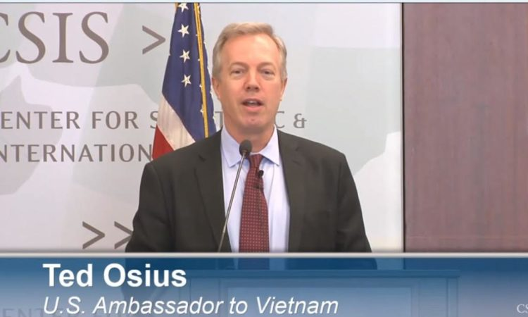 Ambassador Osius at the CSIS discussing President Barack Obama's Visit to Vietnam
