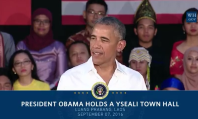 President Obama at YSEALI Town Hall, Souphanouvong University, Luang Prabang, Laos, 9/7/2016