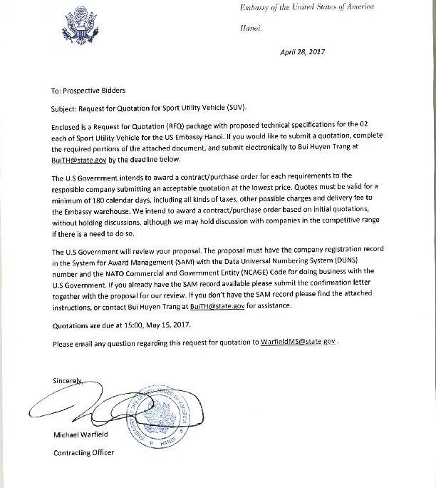 bizops20170428 SUVpurchase invitation letter | U.S. Embassy