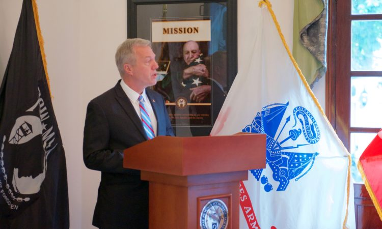 Ambassador Osius giving remarks on the occasion of National POW/MIA Recognition Day