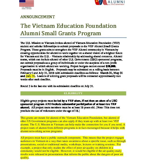 2018-VEF-Alumni-Small-Grants-Program-Round3 | U S  Embassy
