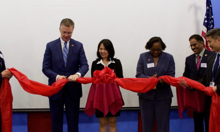 APHIS Deputy Administrator Blakely and Ambassador Kritenbrink open the APHIS office in Hanoi