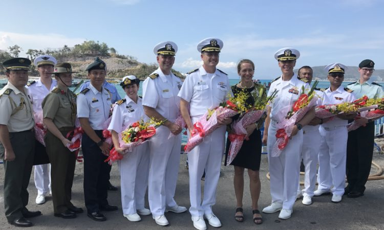 U.S. and Vietnamese PP18 leaders at Nha Trang Port