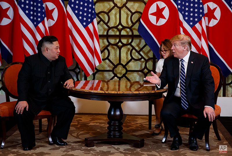 President Trump and Chairman Kim Jong Un of the DPRK Before 1:1 Bilateral Meeting
