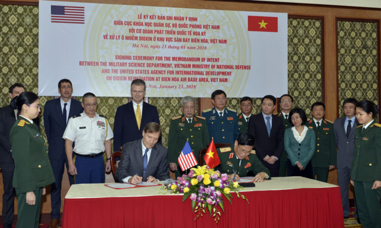 United States and Vietnam Sign Memorandum of Intent to Begin Dioxin Remediation at Bien Hoa