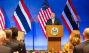 "U.S. Secretary of State Michael R. Pompeo delivers a speech on ""The U.S. in Asia: Economic Engagement for Good"" in Bangkok, Thailand on August 2, 2019. [State Department photo by Ron Przysucha/ Public Domain]"