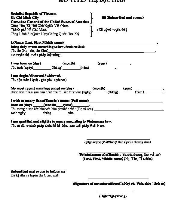 Affidavit Of Status