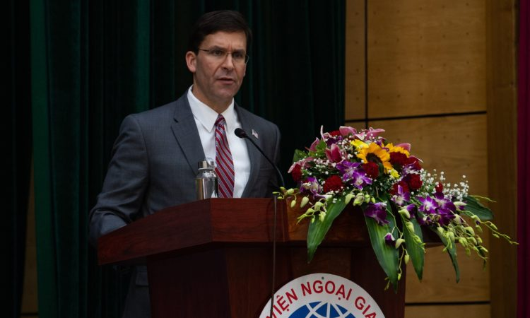 Secretary of Defense Mark T. Esper Remarks at Diplomatic Academy of Vietnam