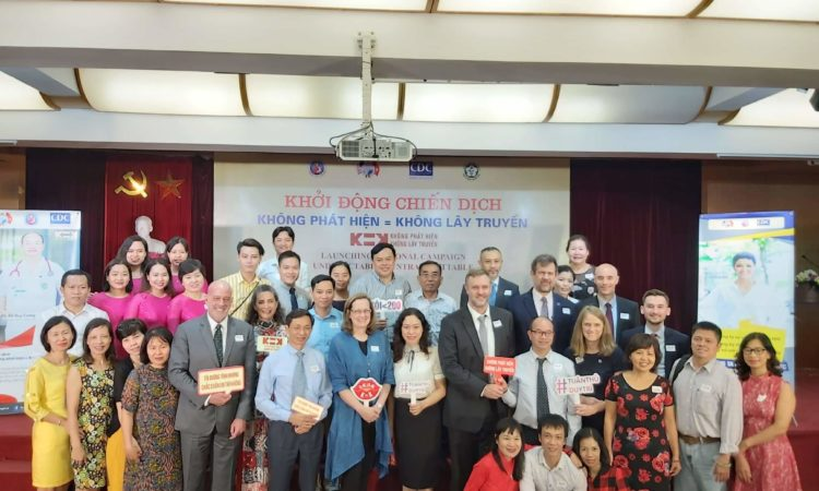 U.S. Deputy Chief of Mission Caryn R. McClelland Vietnamese partners and participants at the Launch of National K equals K Campaign.