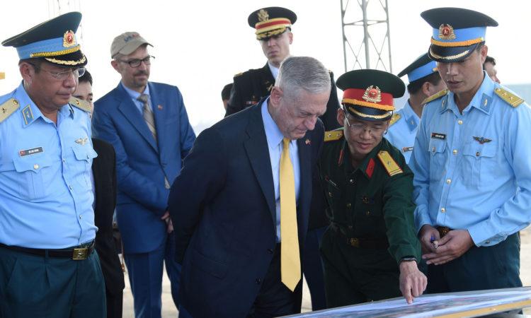 U.S. Secretary of Defense James Mattis visiting the Bien Hoa Airbase