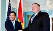 Ngoại trưởng Pompeo gặp Phó Thủ tướng kiêm Bộ trưởng Ngoại giao Việt Nam Phạm Bình Minh