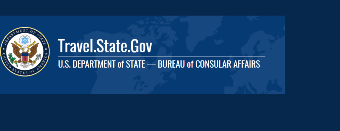 Department of State's Web Page on COVID-19