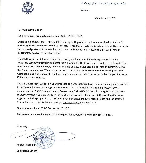 bizops20170905 suv invitation letter | U.S. Embassy & Consulate in
