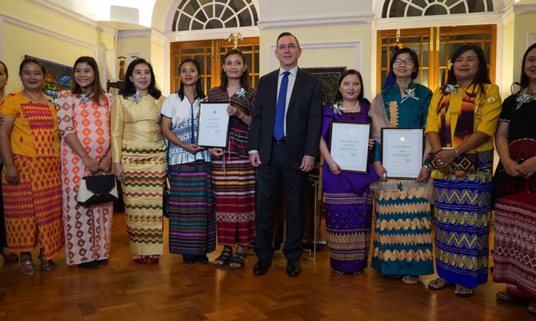Ambassador Marciel with 2018 Women of Change Award Winners