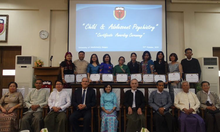 U.S. Embassy Congratulates First Child and Adolescent Psychiatry Graduates at University of Medicine 1