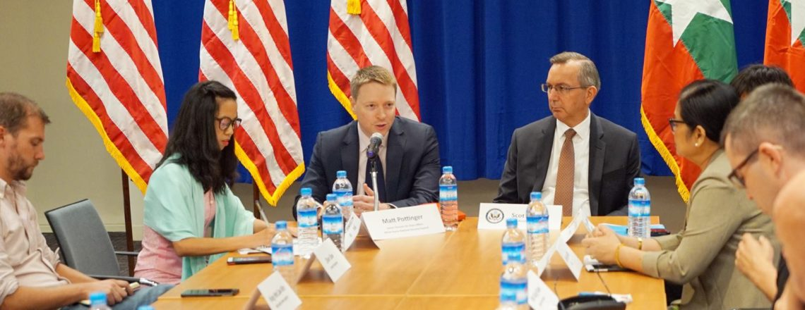 White House National Security Council Senior Director for Asian Affairs Visits Myanmar