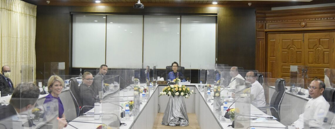 A U.S. Government Economic Delegation Meet with Myanmar State Counsellor
