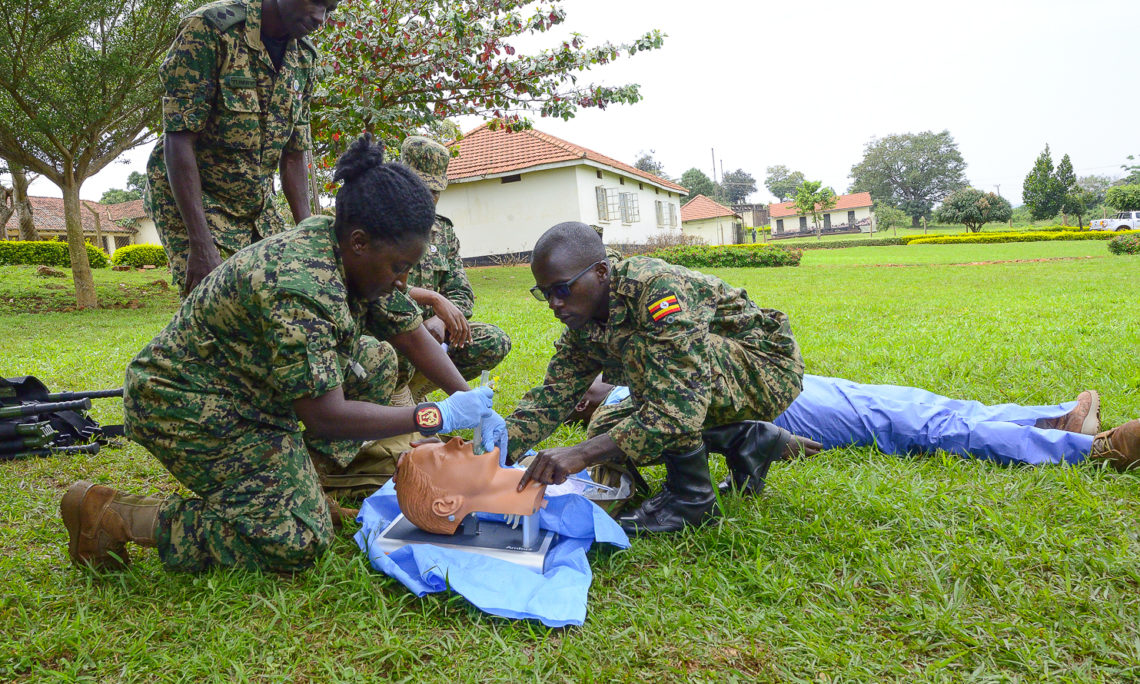 U S  Government Supports UPDF Casualty Care Instructor