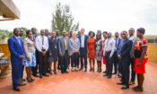: U.S. Ambassador Deborah Malac, Ministry of Water and Environment Director Dominic Kavutse, and Ministry officials who participated in the training