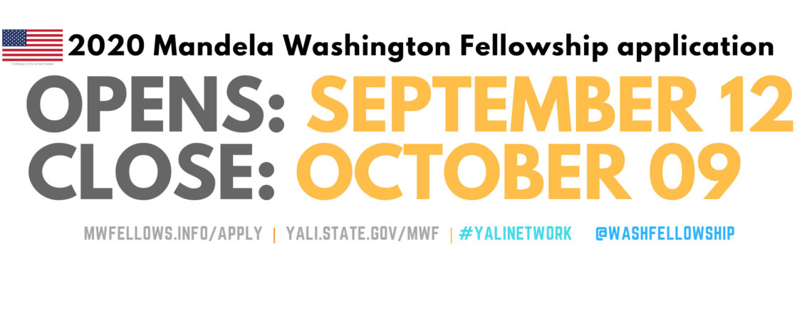 Apply Now for Mandela Washington Fellowship 2020