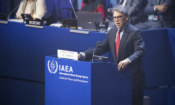 U.S. Secretary of Energy Rick Perry delivering remarks at the 63rd IAEA General Conference, Vienna, Austria, Sept. 16, 2019. (USUNVIE)