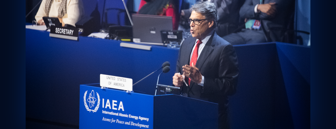 Remarks by U.S. Secretary of Energy Rick Perry at the 2019 IAEA General Conference