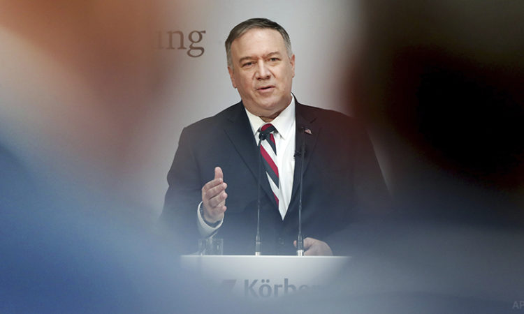 U.S. Secretary of State Michael R. Pompeo, November 2019. (AP Photo)